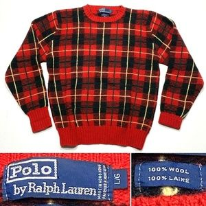 Polo by Ralph Lauren Large 100% Wool Knit Sweater